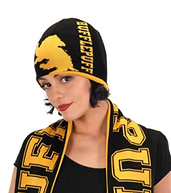 a3137c987b1 Harry Potter - Hufflepuff Reversible Knit Beanie  Amazon.com.au  Fashion