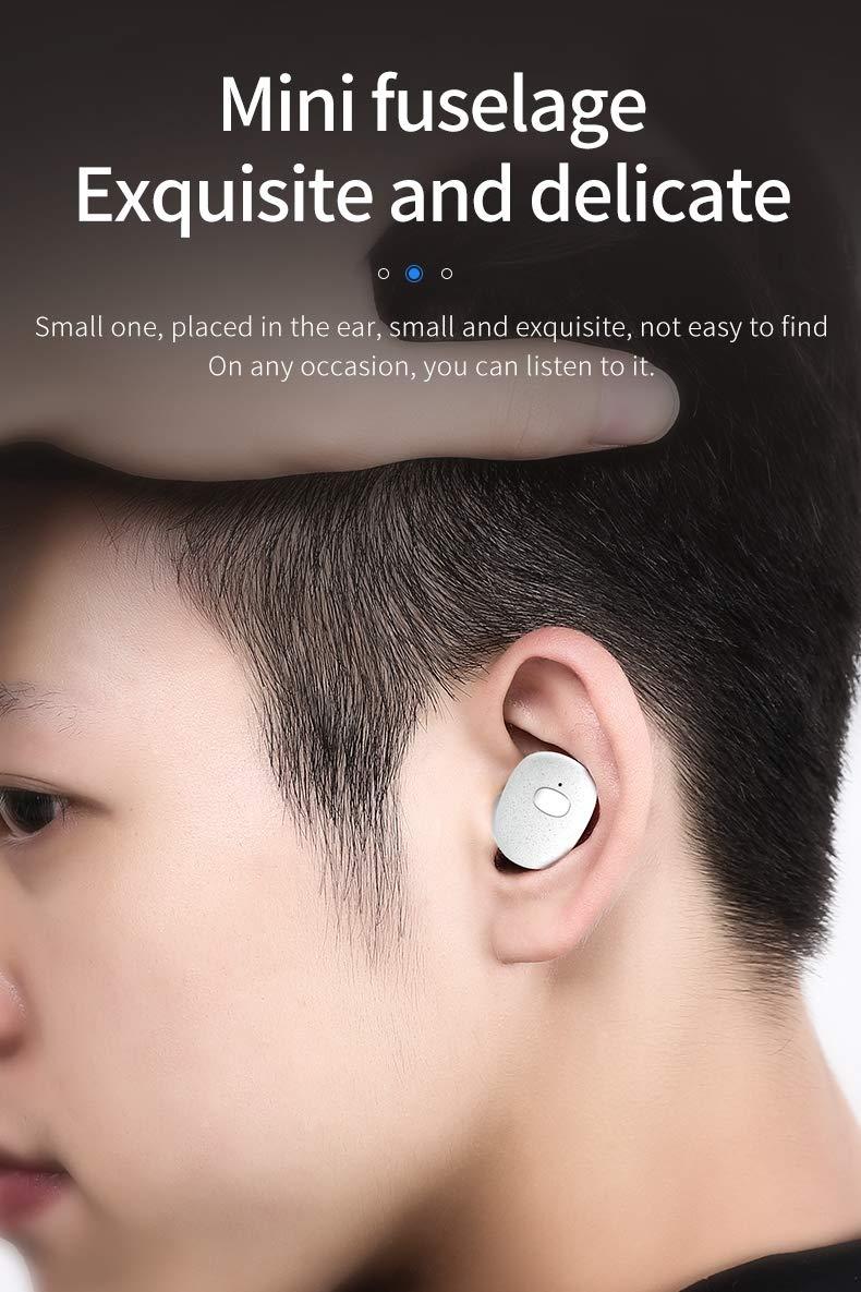Fokine Bluetooth Earphone Wireless Earphones Earbuds Mini Bluetooth Headsets 5.0 IPX7 Waterproof Auto Pairing for Sports Running by Fokine