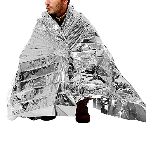 Supow 174 Foldable Emergency Blanket 210x140cm Silver Rescue