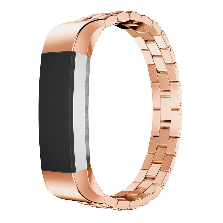 交換用ステンレススチール時計バンド手首ストラップfor Fitbit ALTAトラッカーby d.b.ムードローズゴールド  B01KFG4YJQ