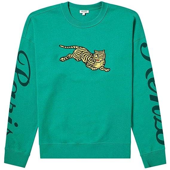 5ddad090d22 Kenzo Leaping Tiger Sweatshirt Green Small Green: Amazon.co.uk: Clothing