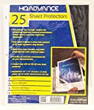 HQ Advance Products Crystal Clear Sheet Protectors, Heavy Weight, 25-Count (42516)