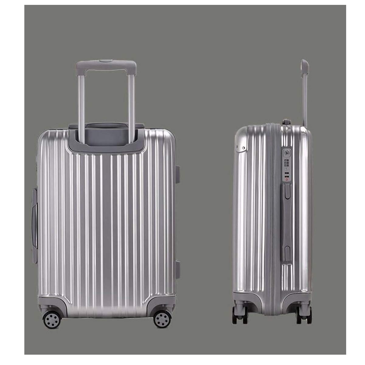 Best Gift Carrying Luggage 20 inches Color : Silver Trolley case Travel Organizer Bahaowenjuguan Hard Rotating Luggage Black