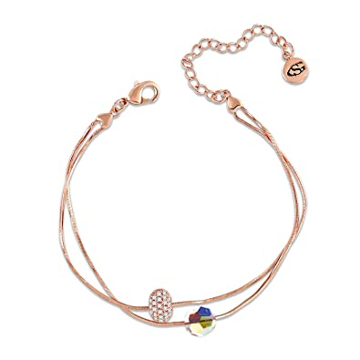 f965275fdd0 GEORGE · SMITH femme Bracelet en or rose 2-Strand Rope Chain Bracelet en  cristal