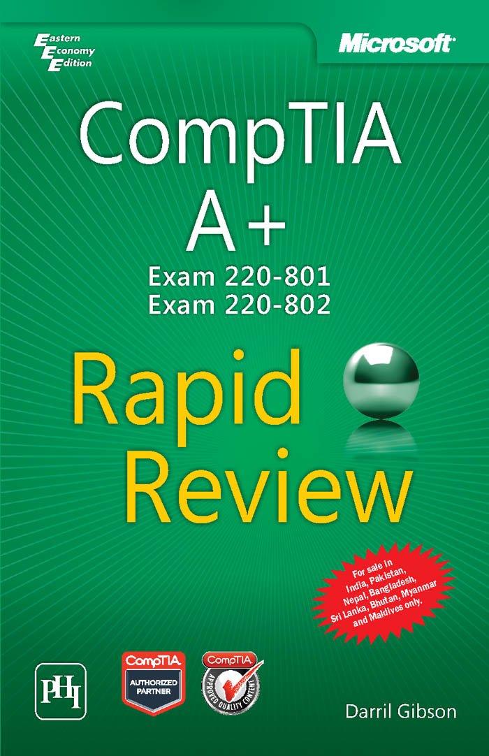 Comptia A+ Exam 220-801 and Exam 220-80 Rapid Review pdf