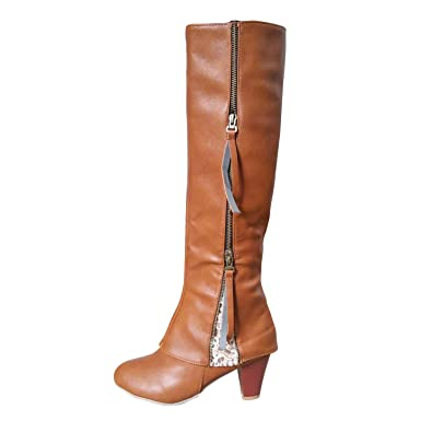Ladies Riding Boots Fold Over Design Near The Ankle With Lace Detailing New
