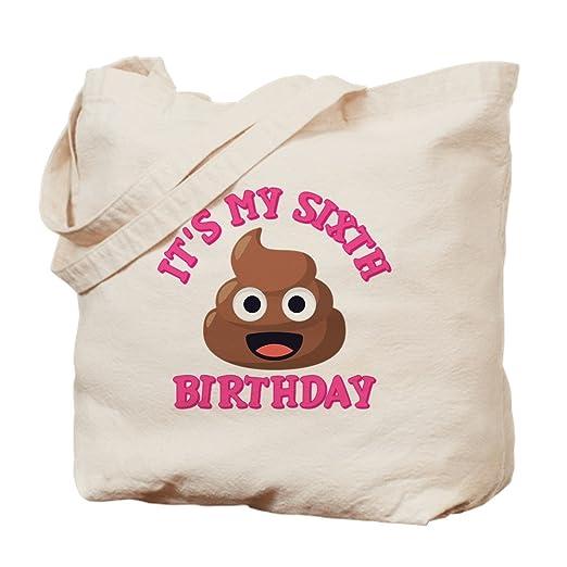 CafePress - Bolsa para seis cumpleaños, diseño de emoticono ...