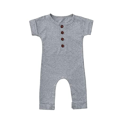 90e348ebcc1 Amazon.com  Lisin Baby Infant Boys and Girls Romper