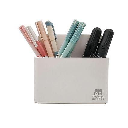 Soporte magnético para rotulador, borrado en seco, organizador para pizarra blanca, cristal, color blanco