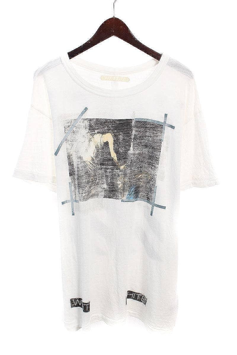 (オフホワイト) OFF-WHITE 【16SS】【CARAVAGGIO】カラヴァッジオプリントTシャツ(L/ホワイト) 中古 B07FQQ3TKP