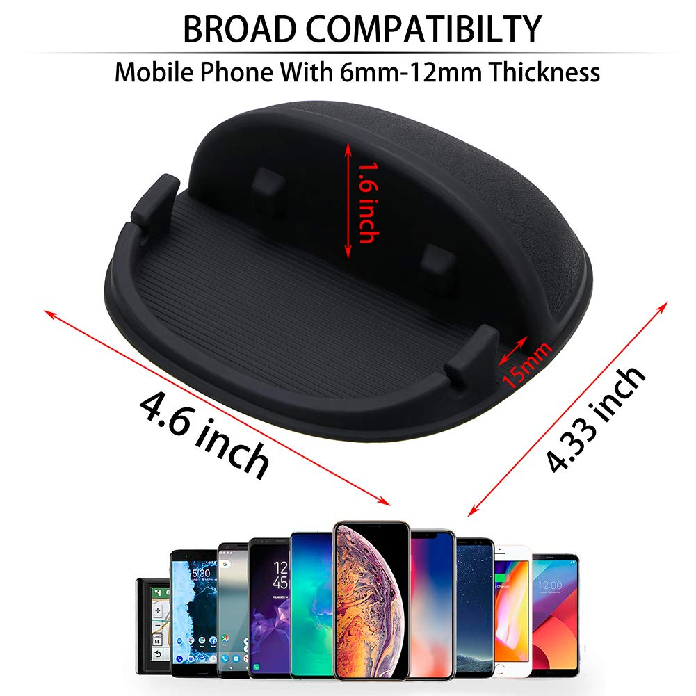 Car Phone Mount Silicone Car Pad Mat for Various Dashboards Anti-Slip Desk Phone Stand Compatible with iPhone Android Smartphones Car ,Phone Holder Samsung