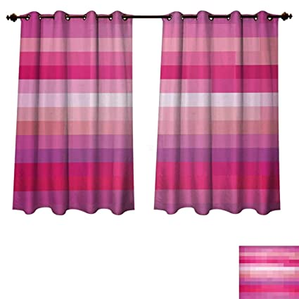 Rupperttextile Hot Pink Blackout Curtains Panels For Bedroom Abstract Art With Modern Expressionist Design Vibrant