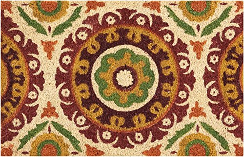 "Waverly WGT15 Greetings Solar Flair Patchwork/Bohemian Rust Doormat 1'6"" x 2'4"""