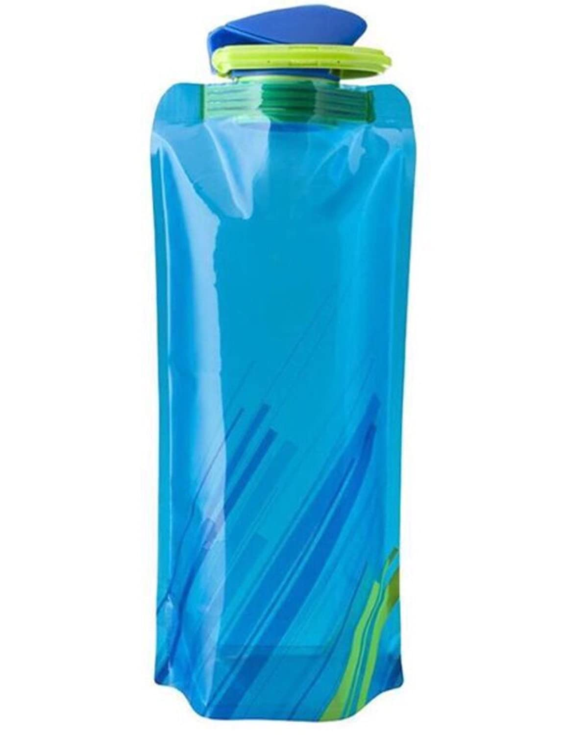 Zombie Apocalypse Survival Lightweight Silicone Foldable Collapsible Portable Water Bottle Leak Proof for Travel Outdoor Sports Survival BPA Free