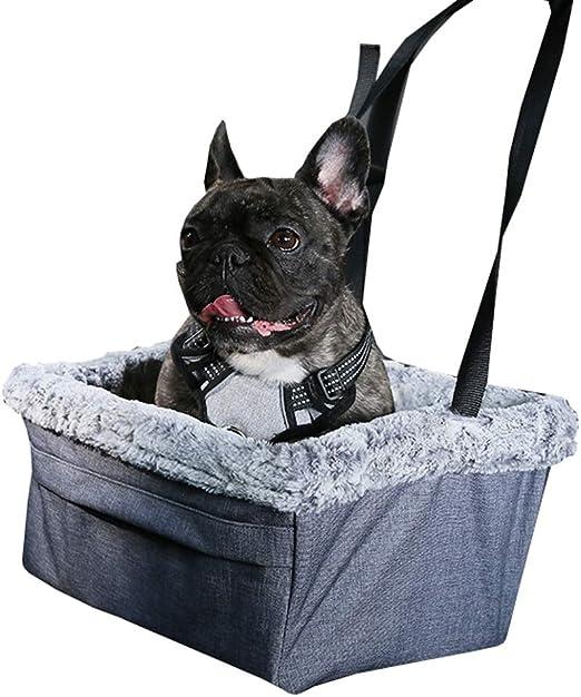 Ryan Asiento De Coche Perro, Mascota La Seguridad Asiento Almohadilla Plegable Al Aire Libre Bolso Gato Viajar Portador Jaula Nido para Perros Pequeños (Color : Gray): Amazon.es: Hogar