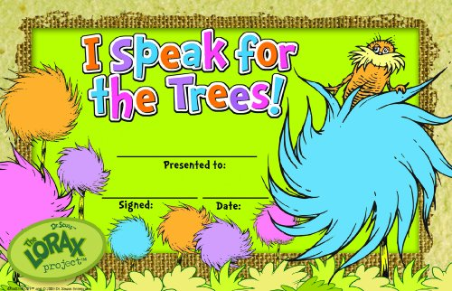 Eureka The Lorax Project I Speak for the Trees Recognition Awards (844039) - DISCONTINUED by (The Lorax Project)