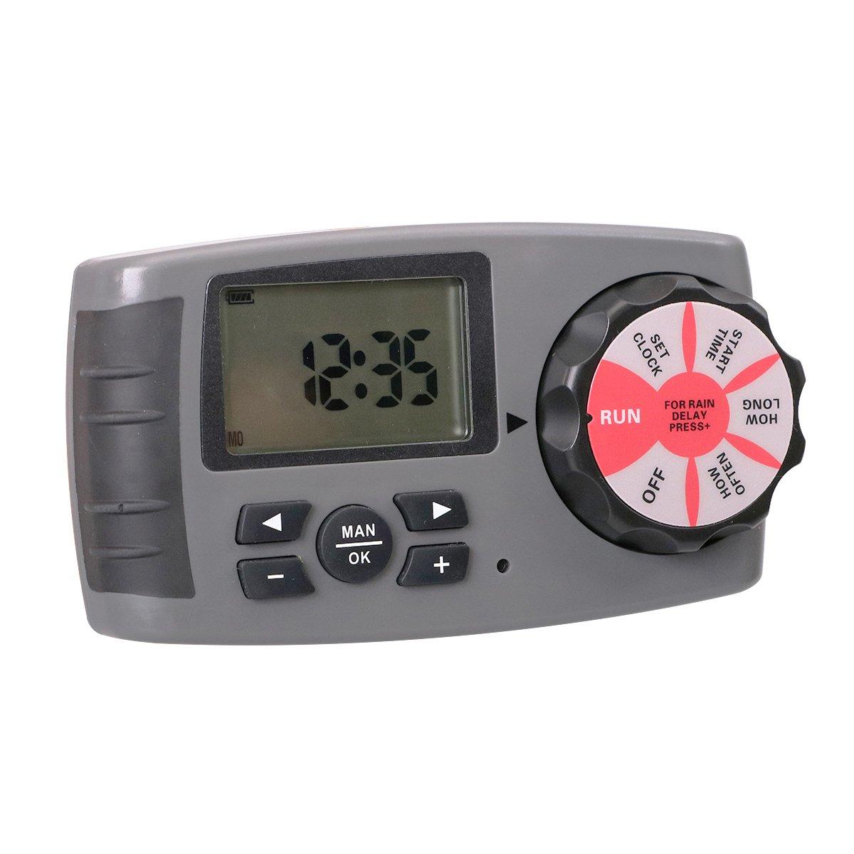 Temporizador de riego 4 Zonas Controlador de Temporizador de Agua ...