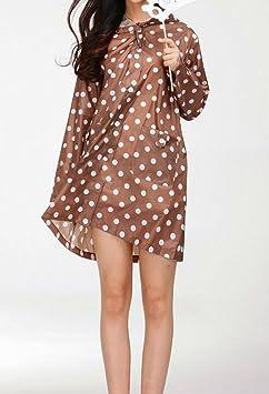 LaoZan Impermeabile Indumenti Impermeabili Rain Jacket per Donna Cappotto  di Pioggia con Cappuccio  Amazon.it  Sport e tempo libero d2e76f15a70d
