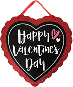 Valentine Sign 11.5 x 11.5 in | Valentines Day Decorations | Valentines Wall Decor | Valentines Door Decorations | Happy Valentine's Day Heart | Valentines Day Decorations for Office, Home, Classrooms