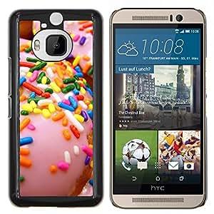 Dragon Case - FOR HTC One M9+ / M9 PLUS - sprinkles glazed doughnut pink sweet - Caja protectora de pl??stico duro de la cubierta Dise?¡Ào Slim Fit