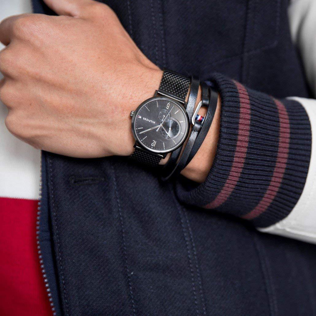 eeb6e64fa9 Tommy Hilfiger Herren Multi Zifferblatt Quarz Uhr mit Edelstahl Armband  1791507: Amazon.de: Uhren