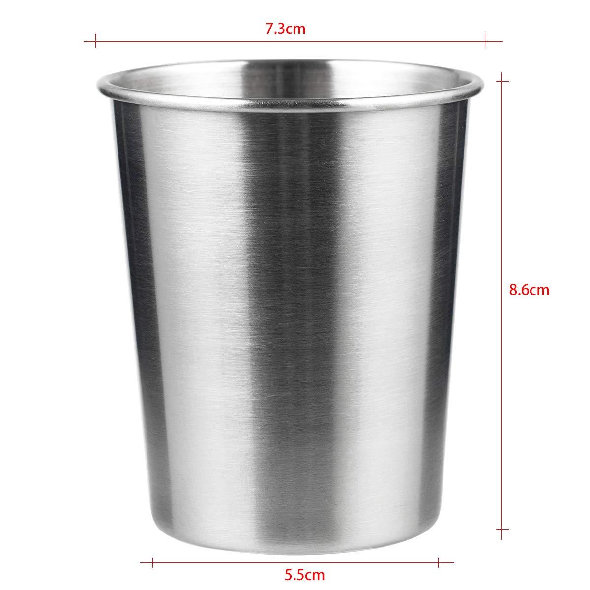 180ML Lot de 10 gobelets en acier inoxydable pour bi/ère verre /à bi/ère en m/étal