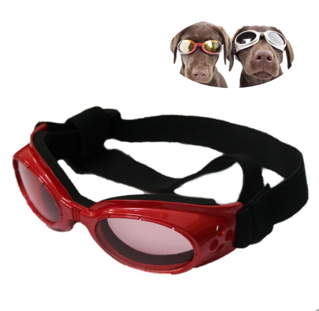 Namsan Puppy UV Lunettes de protection Lunettes élégantes lunettes de soleil pour chien moyen (Rouge / Noir)