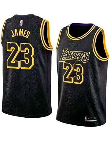 597d658dc29ad BeKing Maillot de Basketball Homme Lebron James #23 - NBA Lakers, Nouveau  Tissu brodé