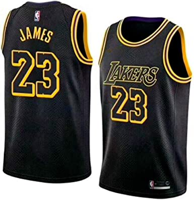 MTBD NBA Lebron James, NO.23 Lakers Retro, Camiseta de Jugador de Básquetbol, Bordado Transpirable y Resistente al Desgaste Camiseta de Fan de Hombres: Amazon.es: Ropa y accesorios