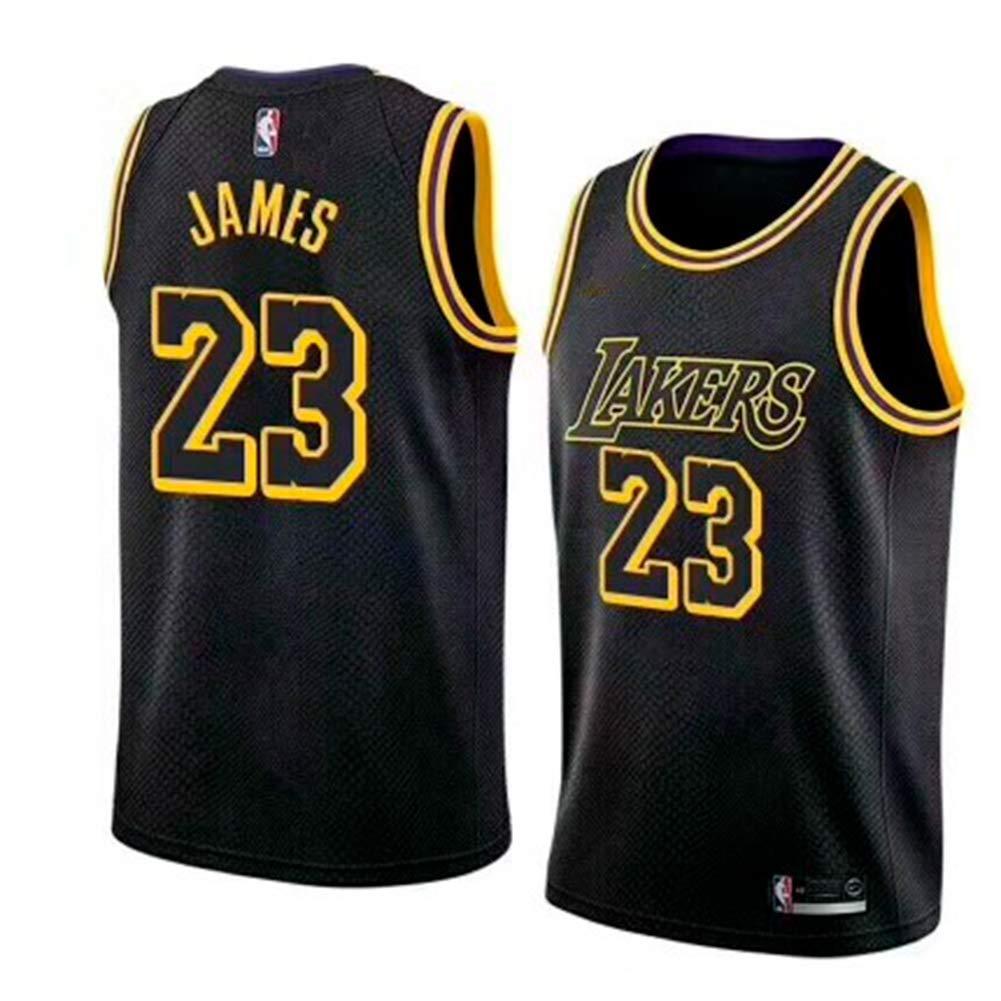 Maglia Los Angeles Lakers Retro n.23 Ricamo Traspirante e Resistente allUsura T-Shirt da Uomo e da Uomo NBA Lebron James Maglia Vintage da Giocatore di Basket Maglia da Uomo
