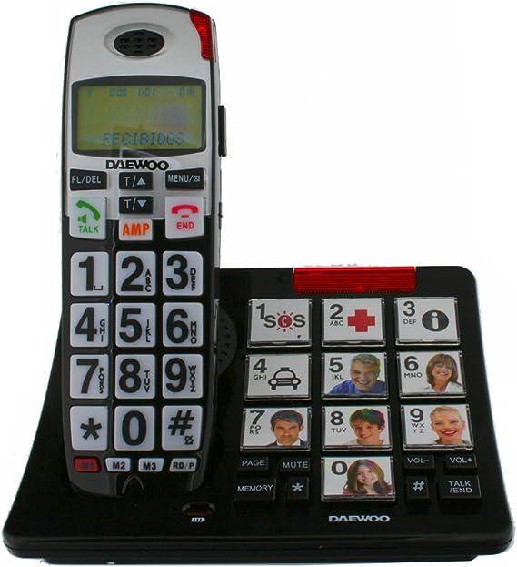 Daewoo DAE31DTD7500 - Teléfono DECT, (teclas grandes): Amazon.es: Electrónica