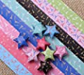 Maggicoo 300 Sheets Lovely Cute Star Folding Paper Lucky Wish Star Origami Paper