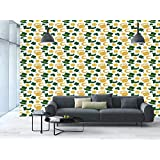 Large Wall Mural Sticker [ Irish,Happy St. Patricks Day Concept Pattern with Traditional Holiday Symbols Decorative,Green Yellow White ] Self-adhesive Vinyl Wallpaper / Removable Modern Decorating Wal