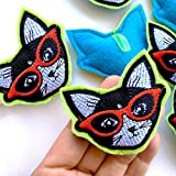 Cool Cats Catnip Toys - Set of 2, handmade using 5-Star Catnip and embroidered cotton fabric