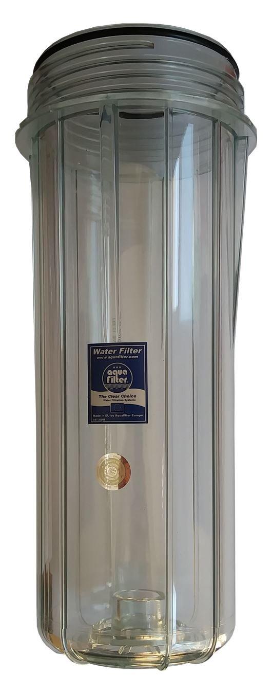 10 'de alta calidad reutilizable vací a cartucho transparente de la carcasa del filtro de agua transparente aquafilter