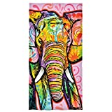 Dean Russo Elephant Cotton Beach Towel