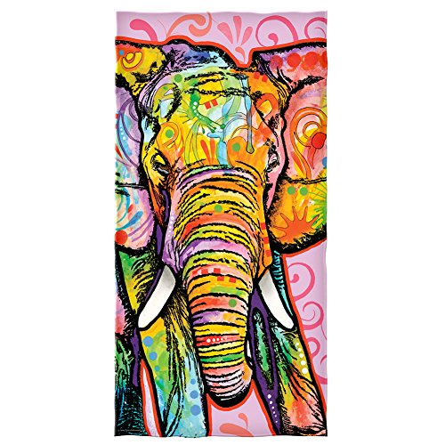 Dawhud Direct Dean Russo Elephant Cotton Beach Towel (Beach Elephant)