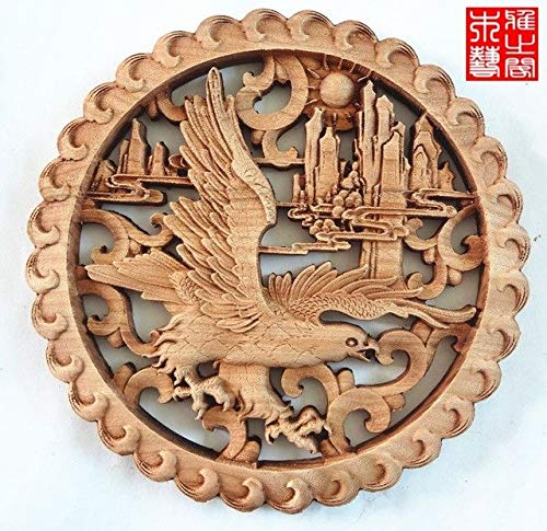 DAVITU Chinese Style Wood Carving handicrafts, Camphor Wood Carving Animals and Flowers(A138) - (Color: 1) ()