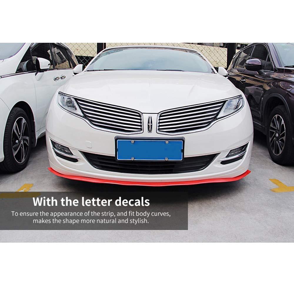 Star-Trade-Inc Car Styling Universal Car Carbon Fiber Front Bumper Lip Splitter Chin Spoiler T Car Accessories