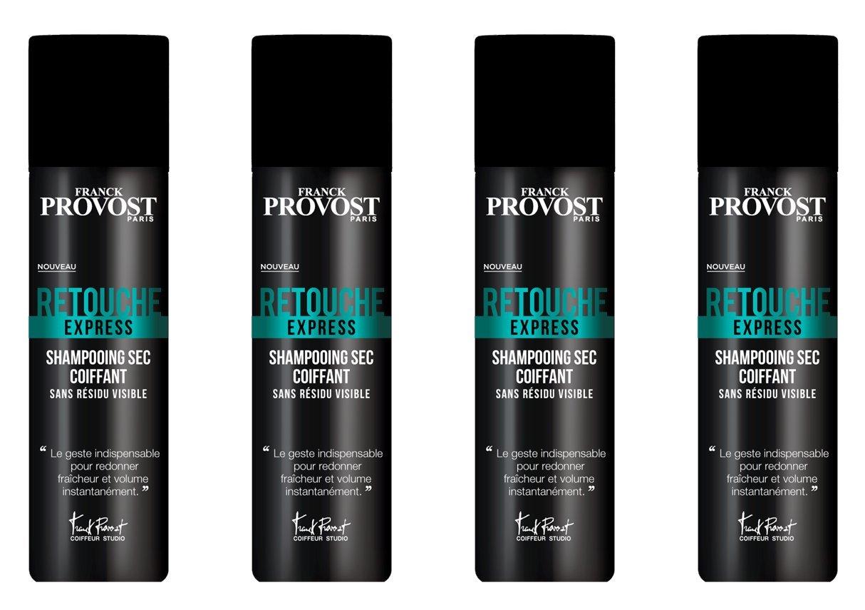 FRANCK PROVOST Studio Retouche Express Shampooing Sec Coiffant sans Résidu Visible 150 ml - Lot de 4 D3327900
