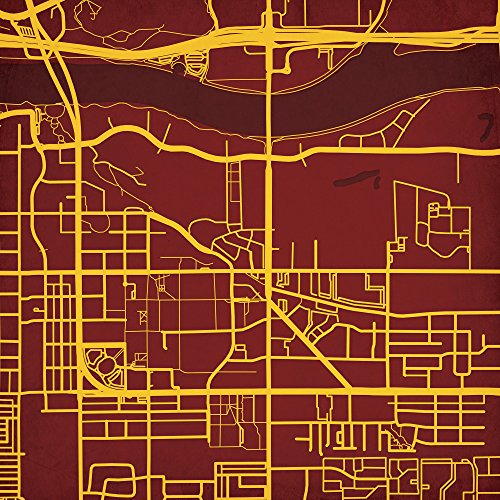 Arizona State University Campus Map Art