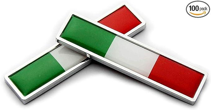 Italy Italian Italia Flag Domed Decal Emblem Resin car Stickers 5x 0.82 2pc.