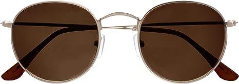 Colori Oro Occhiali da sole La Optica UV 400 Protection Tondo retr/ò da donna a specchio