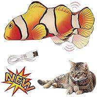fineshelf Dancing Fish Cat Catnip Toy, Funny Electric Plush Doll Fish Kicker Toy para Gatos y Gatitos, Apariencia Realista, Interactivo Cat Toy para Jugar