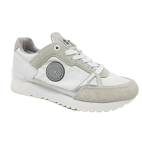 Colmar Travis Supreme Colors 111 White Silver Sneakers Scarpe Donna ... 40e3a07a977