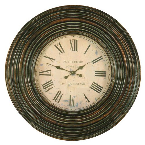 Uttermost Trudy Wooden Wall Clock in Distressed Burnished