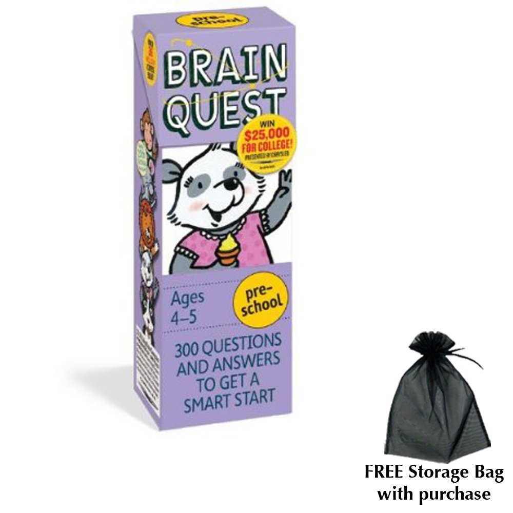 Amazon.com: Brain Quest for Preschool with free storage bag by ...