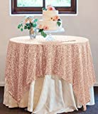 50''x50'' Square Blush Sequin Tablecloth Select Your Color & Size Can Be Available ! Sequin Overlays, Runners, Gatsby Wedding, Glam Wedding Decor, Vintage Weddings (Blush)
