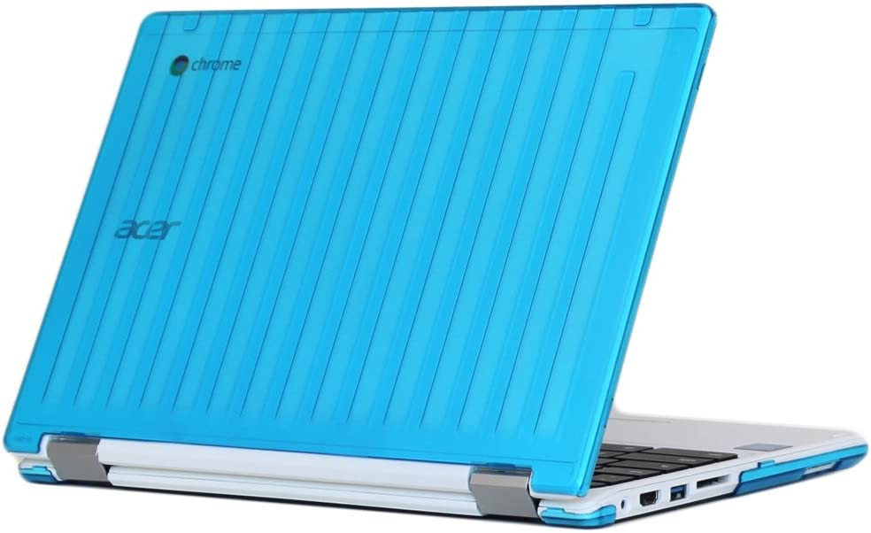 "iPearl mCover Hard Shell Case for 13.3"" Acer Chromebook R13 CB5-312T Series (NOT Compatible with Acer R11 and Other 11.6"" chromebooks) Convertible Laptop (Acer R13) (Aqua)"