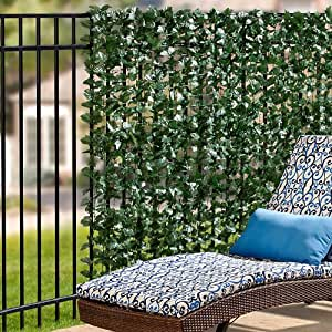 """Amazon.com : Faux Double Sided Leaves Privacy Screen 39"""" x"""